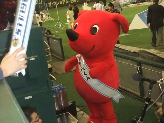 チーバくんも応援に! 第65回ライスボウルを東京ドームで観戦  撮影:高橋典幸