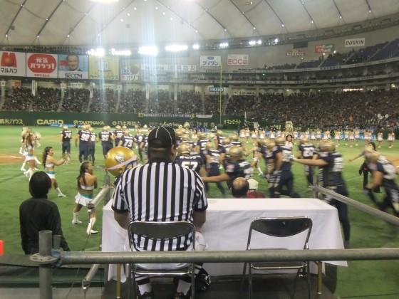 選手入場!オービックシーガルズ 第65回ライスボウルを東京ドームで観戦  撮影:高橋典幸