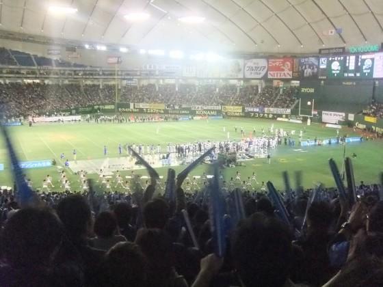 関西学院大学の応援席より 第65回ライスボウルを東京ドームで観戦 撮影:高橋典幸